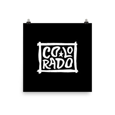 Colorado Poster, Enhanced Matte Paper, Black