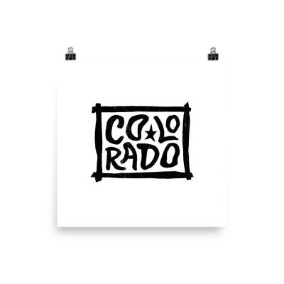 Colorado Poster, Enhanced Matte Paper, White