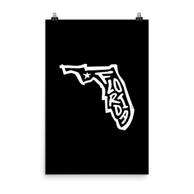 Florida Poster, Enhanced Matte Paper, Black