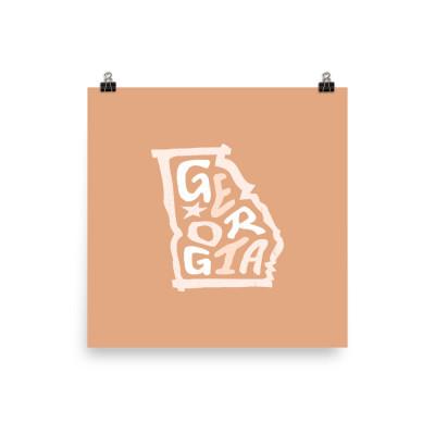Georgia Poster, Enhanced Matte Paper, Color