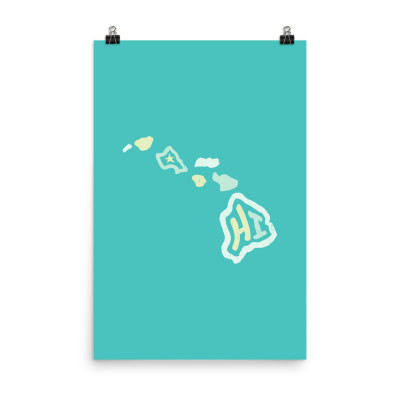 Hawaii Poster, Enhanced Matte Paper, Color