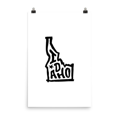 Idaho Poster, Enhanced Matte Paper, White