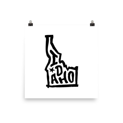 Idaho Poster, Enhanced Matte Paper, White