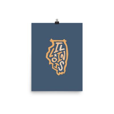 Illinois Poster, Enhanced Matte Paper, Color
