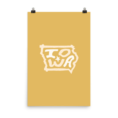 Iowa Poster, Enhanced Matte Paper, Color