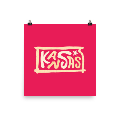 Kansas Poster, Enhanced Matte Paper, Color