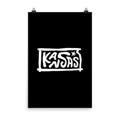 Kansas Poster, Enhanced Matte Paper, Black
