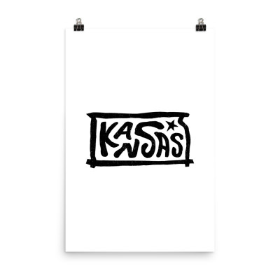Kansas Poster, Enhanced Matte Paper, White