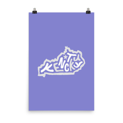 Kentucky Poster, Enhanced Matte Paper, Color