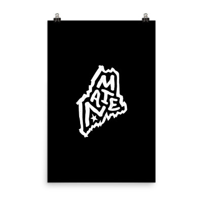 Maine Poster, Enhanced Matte Paper, Black