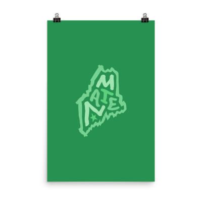 Maine Poster, Enhanced Matte Paper, Color