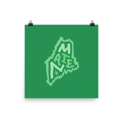Maine Poster, Enhanced Matte Paper, Color
