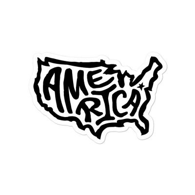 America Sticker, Black on White