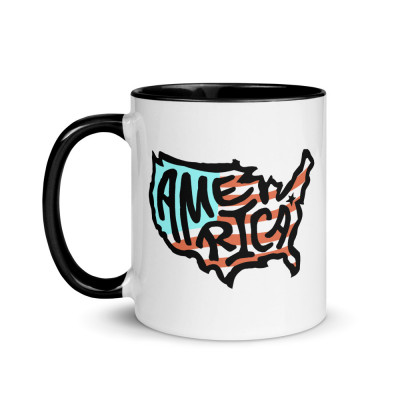 America Ceramic Mug, Color