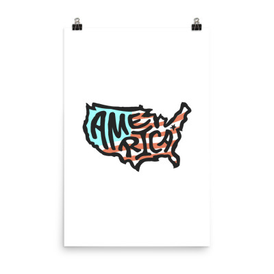 America Poster, Enhanced Matte Paper, Color