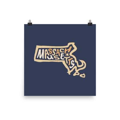 Massachusetts Poster, Enhanced Matte Paper, Color