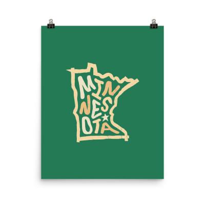 Minnesota Poster, Enhanced Matte Paper, Color
