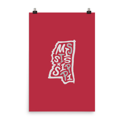 Mississippi Poster, Enhanced Matte Paper, Color