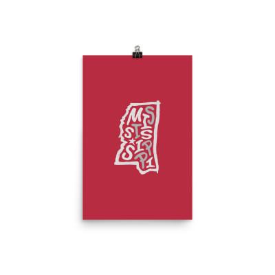 Mississippi Poster, Enhanced Matte Paper, Color