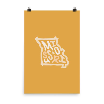 Missouri Poster, Enhanced Matte Paper, Color