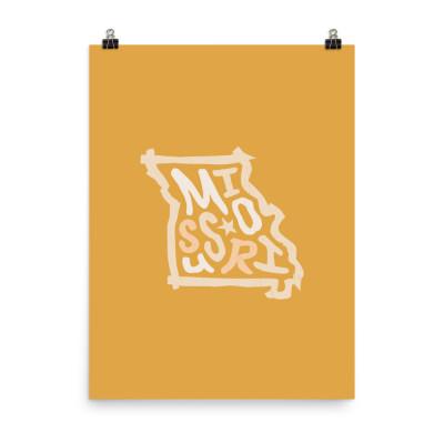 Missouri Poster, Enhanced Matte Paper, Color