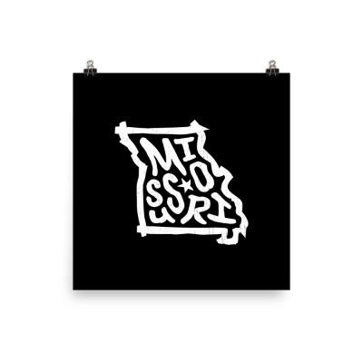 Missouri Poster, Enhanced Matte Paper, Black