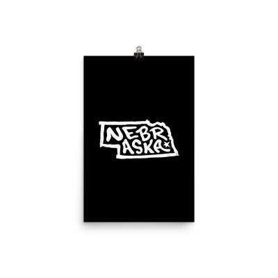Nebraska Poster, Enhanced Matte Paper, Black