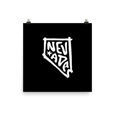 Nevada Poster, Enhanced Matte Paper, Black