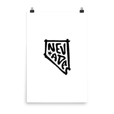 Nevada Poster, Enhanced Matte Paper, White