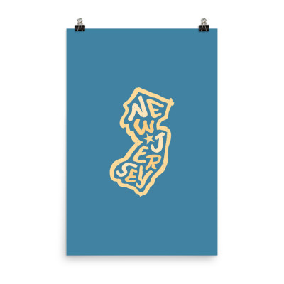 New Jersey Poster, Enhanced Matte Paper, Color