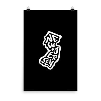 New Jersey Poster, Enhanced Matte Paper, Black
