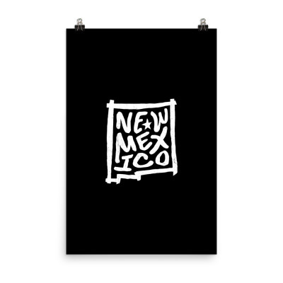 New Mexico Poster, Enhanced Matte Paper, Black