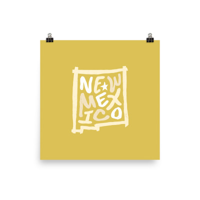 New Mexico Poster, Enhanced Matte Paper, Color