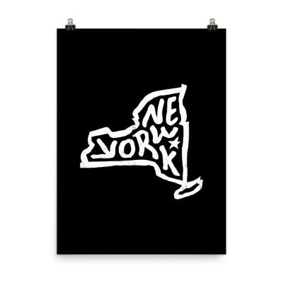 New York Poster, Enhanced Matte Paper, Black