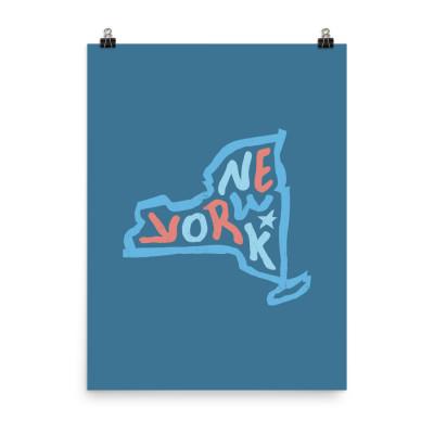New York Poster, Enhanced Matte Paper, Color