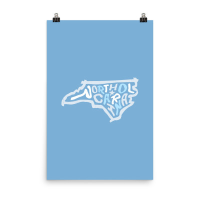 North Carolina Poster, Enhanced Matte Paper, Color