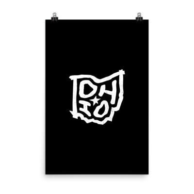 Ohio Poster, Enhanced Matte Paper, Black