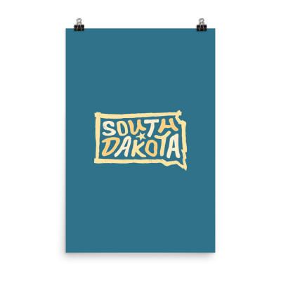 South Dakota Poster, Enhanced Matte Paper, Color