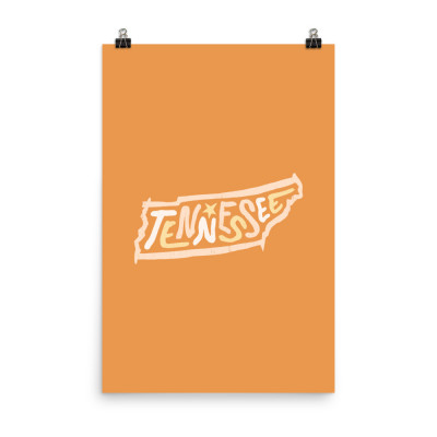 Tennessee Poster, Enhanced Matte Paper, Color