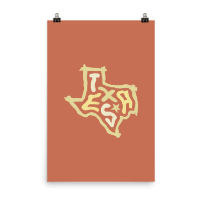 Texas Poster, Enhanced Matte Paper, Color