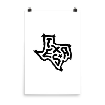 Texas Poster, Enhanced Matte Paper, White