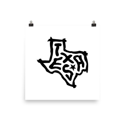 Texas Poster, Enhanced Matte Paper, White