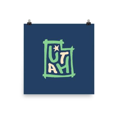 Utah Poster, Enhanced Matte Paper, Color