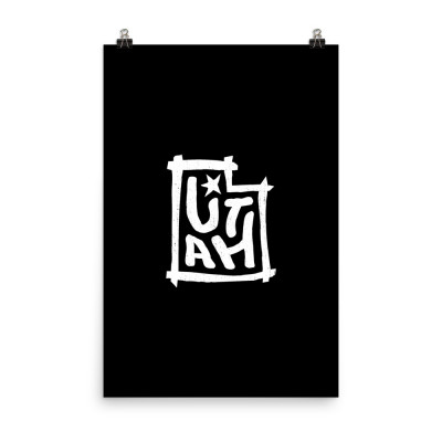 Utah Poster, Enhanced Matte Paper, Black
