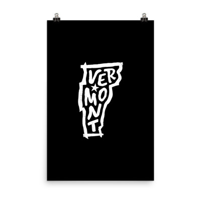 Vermont Poster, Enhanced Matte Paper, Black