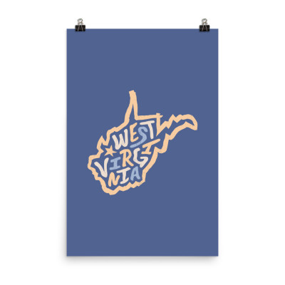 West Virginia Poster, Enhanced Matte Paper, Color