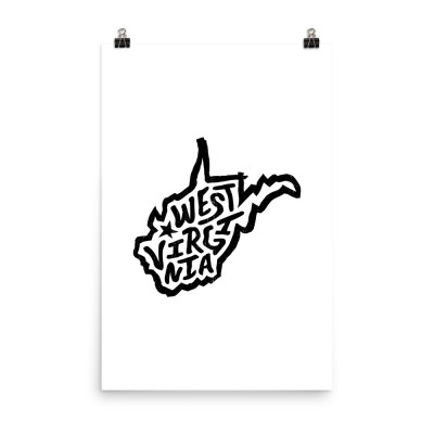West Virginia Poster, Enhanced Matte Paper, White