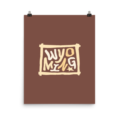 Wyoming Poster, Enhanced Matte Paper, Color
