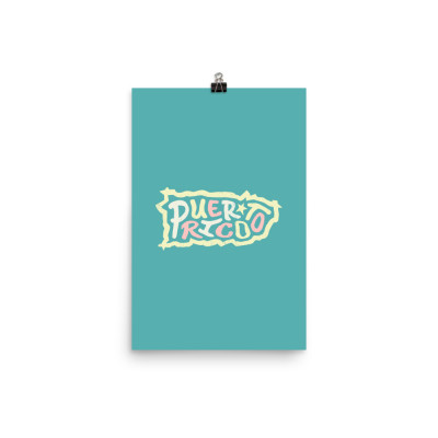 Puerto Rico Poster, Enhanced Matte Paper, Color