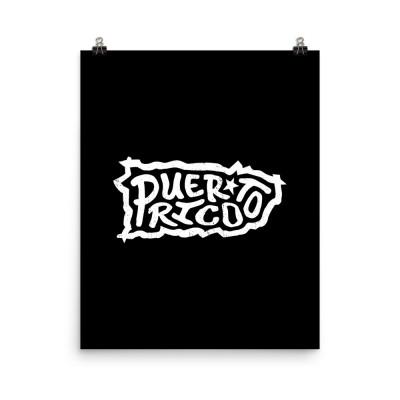 Puerto Rico Poster, Enhanced Matte Paper, Black